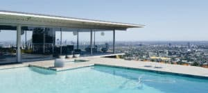 LA House pool with Los Angeles view