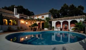 Mexican style villa with pool